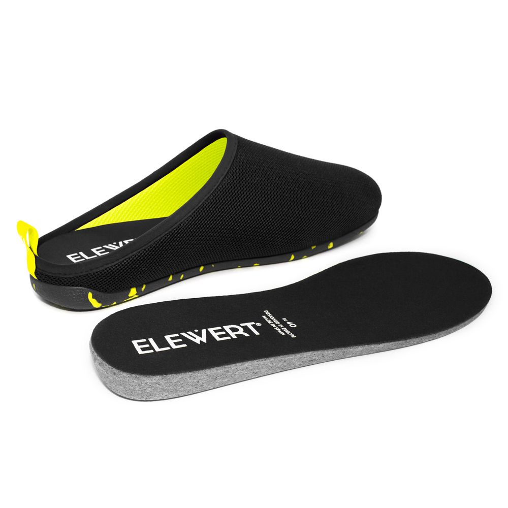 Slippers Elewert LITE Black Yellow